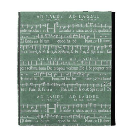 Mediaeval Music Manuscript iPad Case