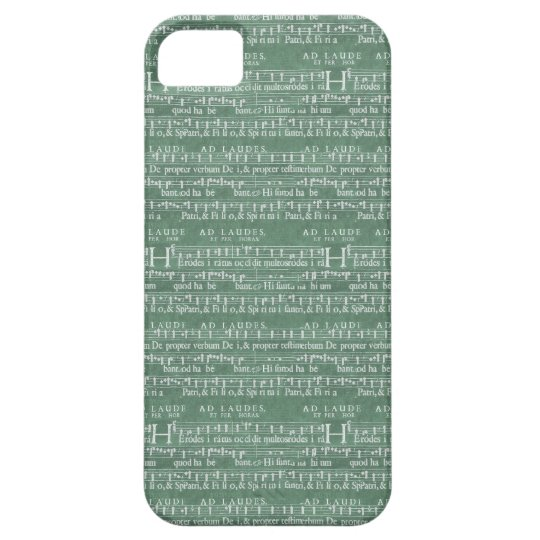 Mediaeval Music Manuscript iPhone 5 case