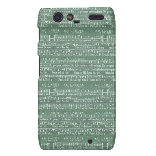 Mediaeval Music Manuscript Motorola RAZR Case