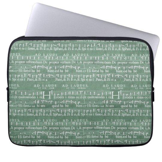 "Mediaeval Music Manuscript Neoprene Sleeve 13"" Computer Sleeves"