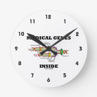 Medical Genes Inside (DNA Replication) Round Clock