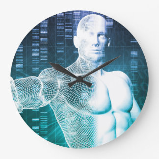 Medical Technology with Scientist Engineer on DNA Large Clock
