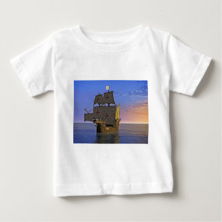 Medieval Carrack at Twilight Baby T-Shirt