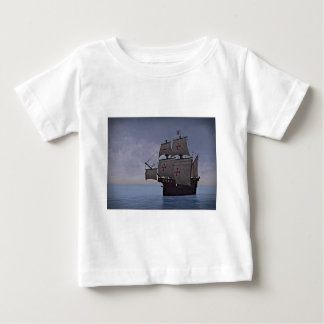 Medieval Carrack Becalmed Baby T-Shirt