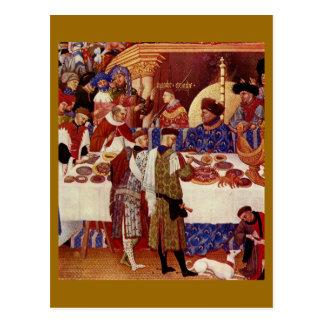 Medieval feast postcard