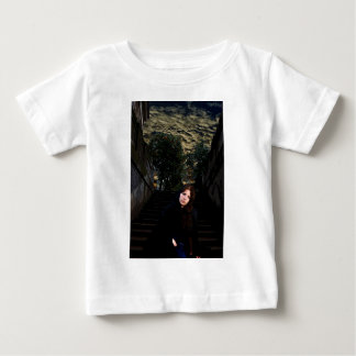 Medieval Girl on Stairs Baby T-Shirt