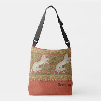 Medieval Horses Design Crossbody Bag