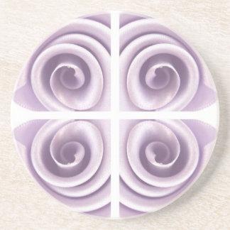 Medieval Lilac Rose Swirls Drink Coaster