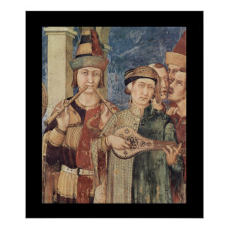 Medieval Musicians Poster