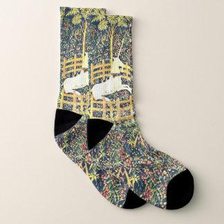 Medieval Unicorn Tapestry - Socks