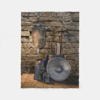 Medieval Weaponry Small Fleece Blanket