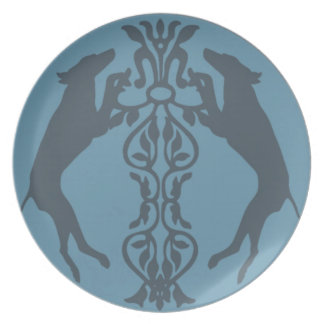 MEDIEVAL WEIM STANDING BLUE PLATE