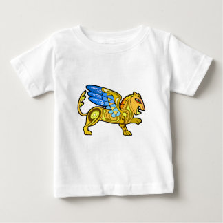 Medieval Winged Lion Gryphon Baby T-Shirt