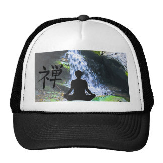 Meditating Silhouette by Waterfall Cap