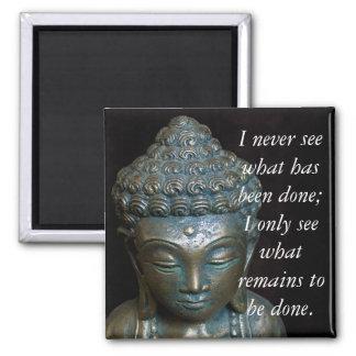 Meditation Buddha Quote.. Square Magnet