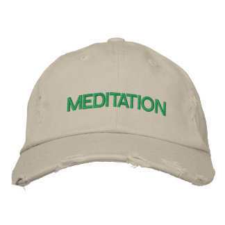 MEDITATION cap Embroidered Hats