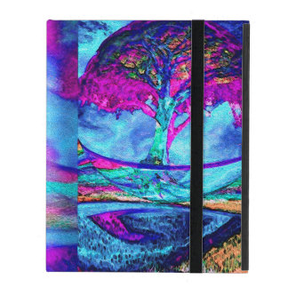 Meditation Tree of Life in Purple iPad Case