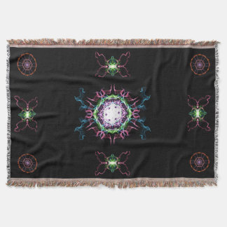 Meditative Silk Art Throw Blanket