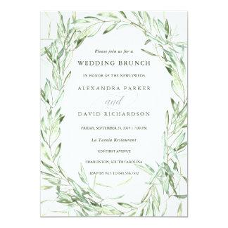 Mediterranean Olive Branches | Wedding Brunch Card