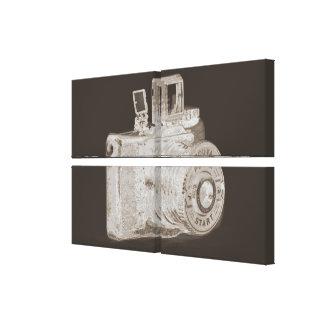 Medium format camera Art Fashion Stretched Canvas Print