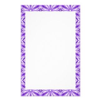Medium Purple Fractal Pattern Stationery