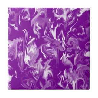 Medium Purple & White Mixed Color Tile