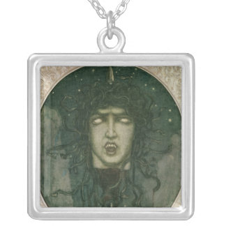 Medusa, 1919 silver plated necklace