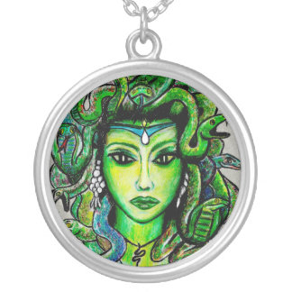 Medusa Art Necklace