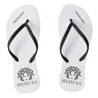 """MEDUSA"" Pair of Flip Flops Thongs"
