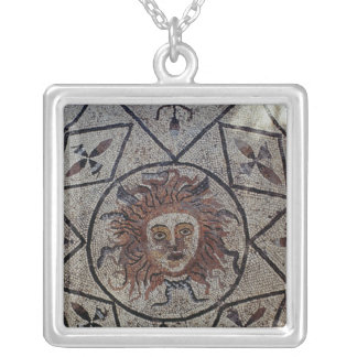 Medusa, Roman mosaic from the House of Orpheus Silver Plated Necklace