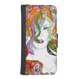 Medusa snake hair woman witch watercolour iPhone SE/5/5s wallet case