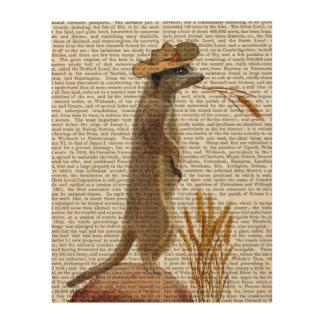 Meerkat Cowboy Wood Wall Decor