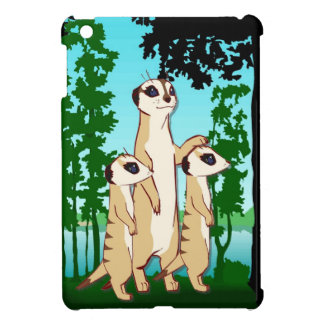 Meerkat  mum and the twins case for the iPad mini