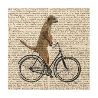 Meerkat on Bicycle Wood Wall Decor