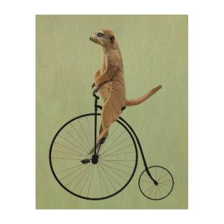 Meerkat on Black Penny Farthing Wood Print