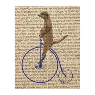 Meerkat On Blue Penny Farthing Wood Wall Art
