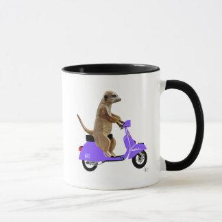 Meerkat on Lilac Moped Mug