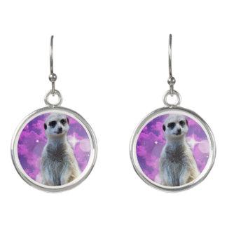 Meerkat With Sparkle, Earrings