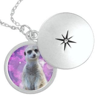 Meerkat With Sparkle, Locket Necklace