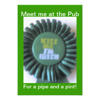 Meet me at the Pub  Invitation