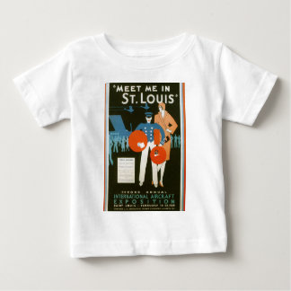 Meet Me In St Louis Vintage Travel Poster Baby T-Shirt