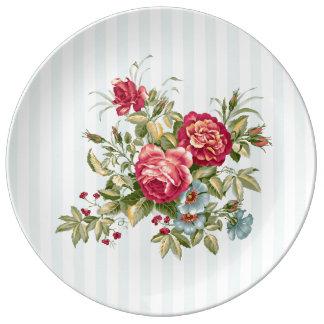 Meghan Cottage Chic Decorative Porcelain Plate
