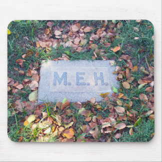 Meh Gravestone Morbid Humor Cemetery Geek Funny Mouse Pad