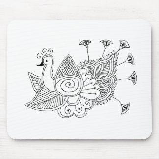 Mehendi Peacock Mouse Pad