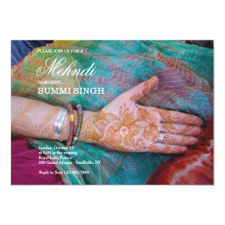 Mehndi Hand Invitation