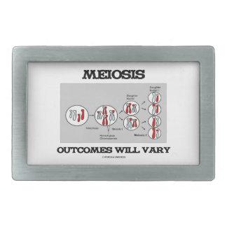 Meiosis Outcomes Will Vary (Meiosis Humor) Belt Buckle