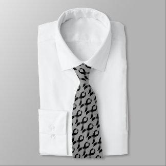 Melanoma   Skin Cancer - Black Ribbon Tie