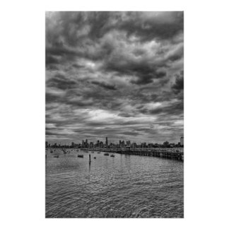 Melbourne skyline from St. Kilda Poster
