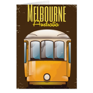 Melbourne Tram Australia travel poster Card