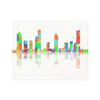 Melbourne Vic Skyline Canvas Print